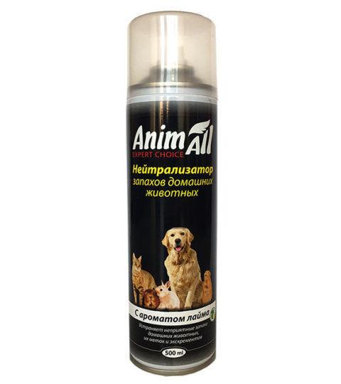 AnimAll спрей нейтрализатор запахов домашних животных с ароматом лайма 500 мл