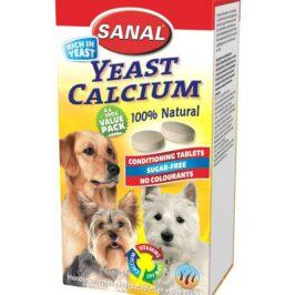 Dog Vitamins Yeast Calcium, упаковка 400г (4х100г)