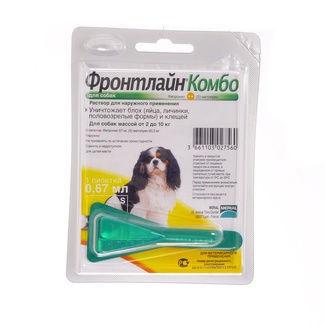 ФРОНТЛАЙН КОМБО Спот - он д/собак S ( 2-10кг) + МОНО ПИПЕТКА