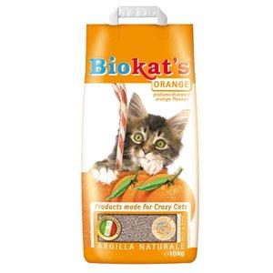 наполнитель для кошачьего туалета Биокат'с Оранж