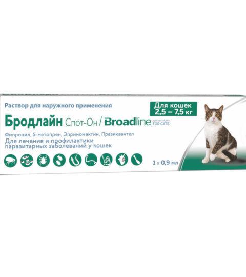 БРОДЛАЙН Спот-Он для котов 2,5-7,5кг (L)