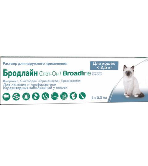 БРОДЛАЙН Спот-Он для котов до 2,5кг (S)